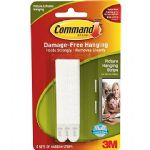 Command™ Picture & Mirror Hanging Strips, Narrow, 1.4Kg, For Hanging Pictures (Pack of 4 Sets)